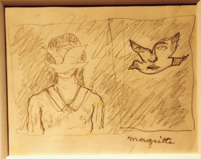 Crayon on paper by René Magritte