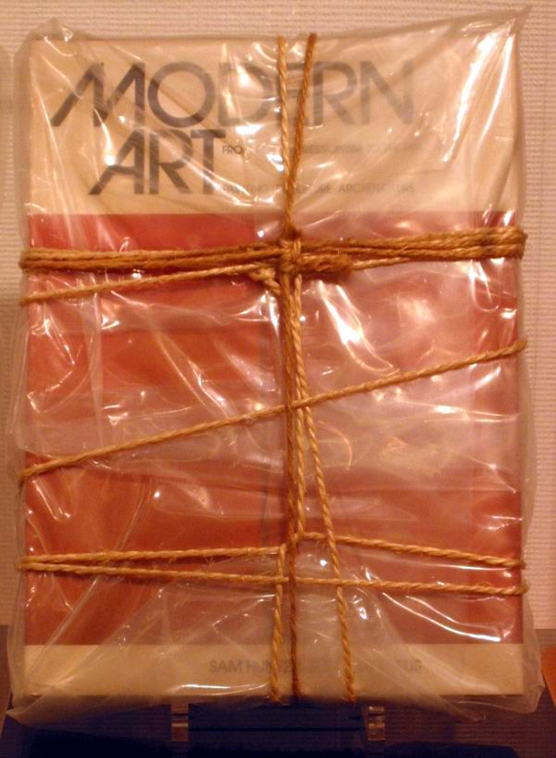Modern art book wrapped by  Christo