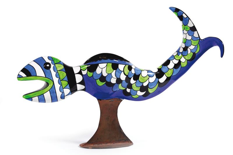 Vase poisson by Niki De Saint-phalle