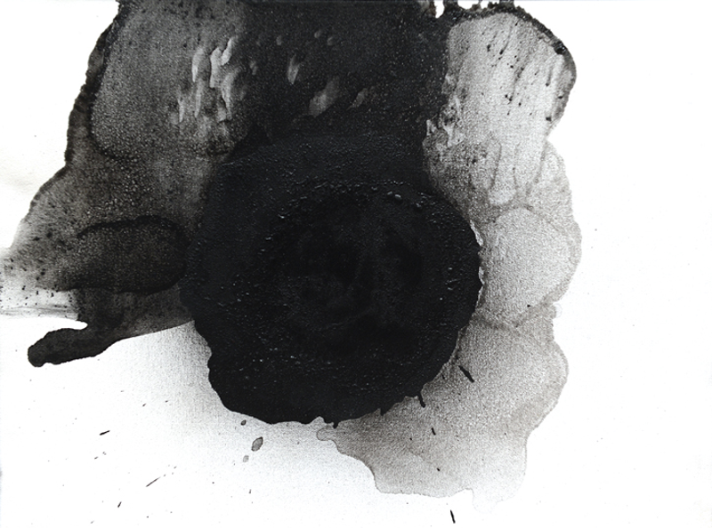 Black flower fecoming by Otto Piene