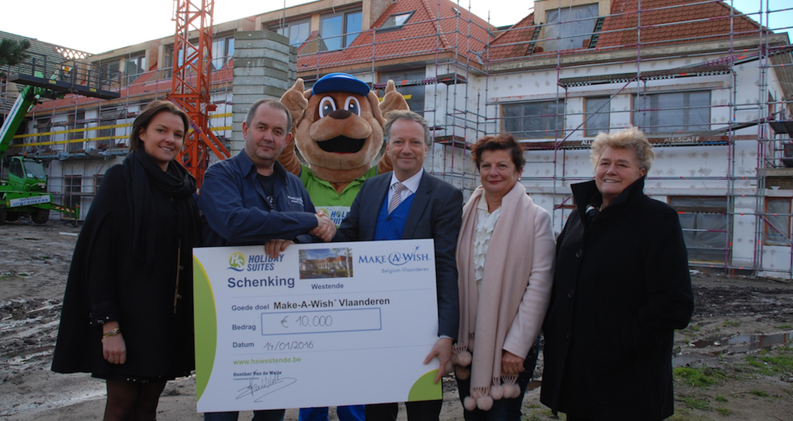Schenking: 10.000 euro aan Make-A-Wish® Belgium!